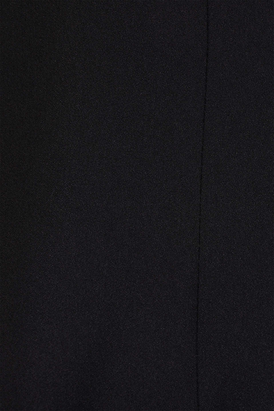 Blazer with satin lapel collar, BLACK, detail image number 4