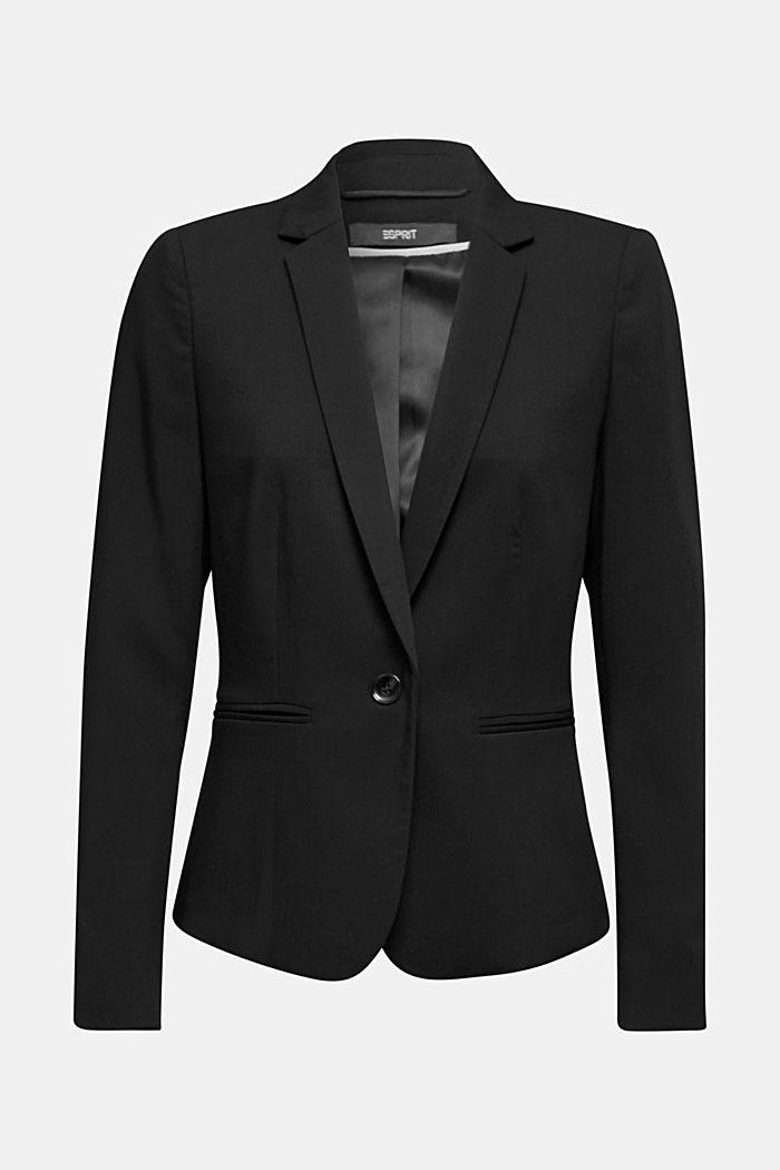 One-button blazer with stretch