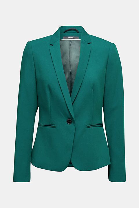 One-button blazer with stretch