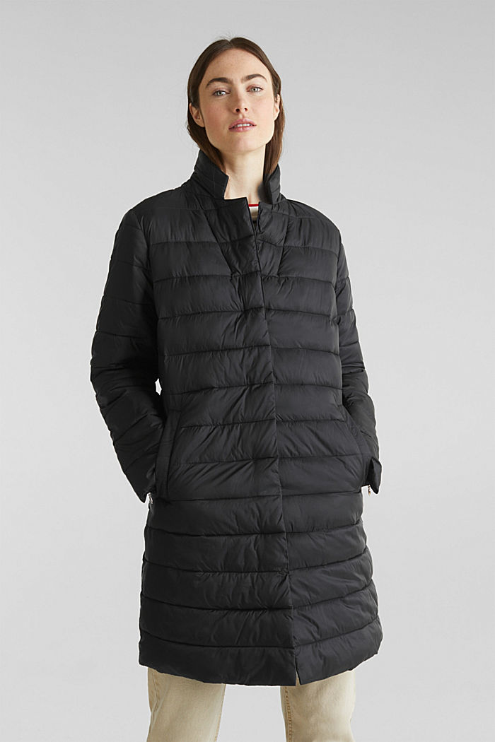 Quilted coat with 3M™ Thinsulate™ filling, BLACK, detail image number 0