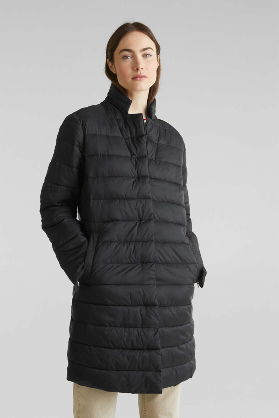 Quilted coat with 3M™ Thinsulate™ filling, BLACK, detail image number 5