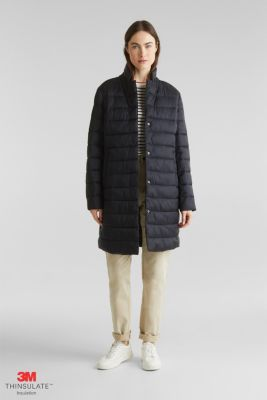 Quilted coat with 3M™ Thinsulate™ filling, BLACK, detail