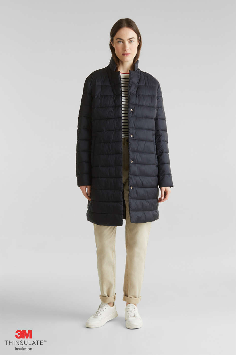 Quilted coat with 3M™ Thinsulate™ filling, BLACK, detail image number 1