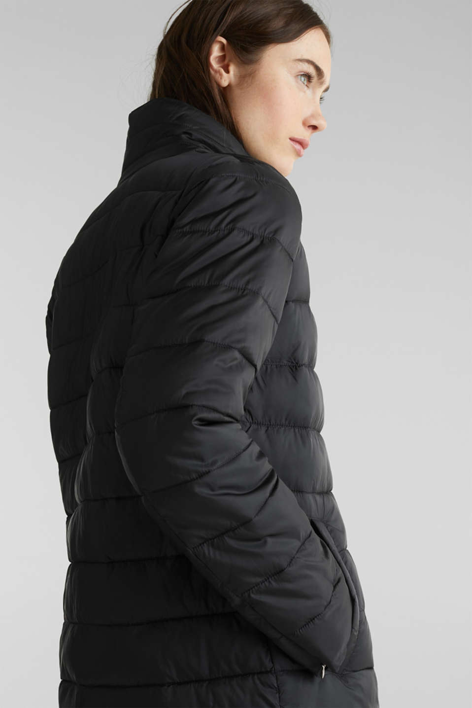 Quilted coat with 3M™ Thinsulate™ filling, BLACK, detail image number 4