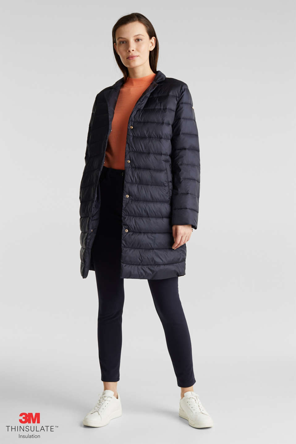 Quilted coat with 3M™ Thinsulate™ filling, NAVY, detail image number 0