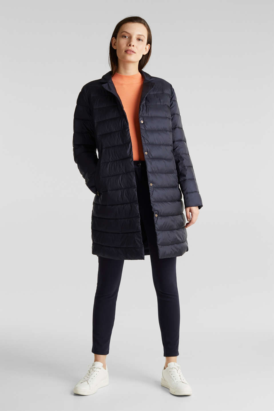 Quilted coat with 3M™ Thinsulate™ filling, NAVY, detail