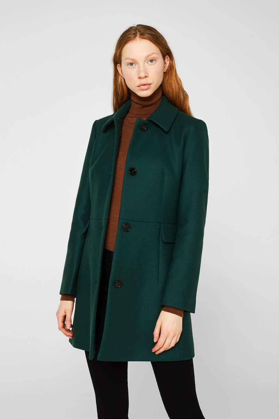 Coats woven, BOTTLE GREEN, detail image number 5