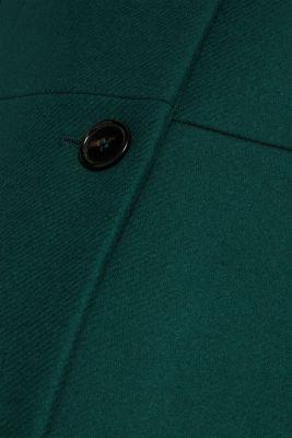 Made of blended wool: coat made of Italian yarn, BOTTLE GREEN, detail
