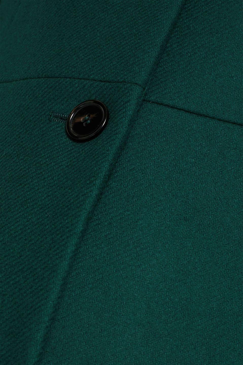Coats woven, BOTTLE GREEN, detail image number 4