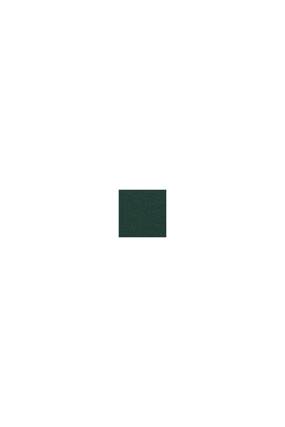 Aus Woll-Mix: Mantel mit italienischem Garn, BOTTLE GREEN, swatch
