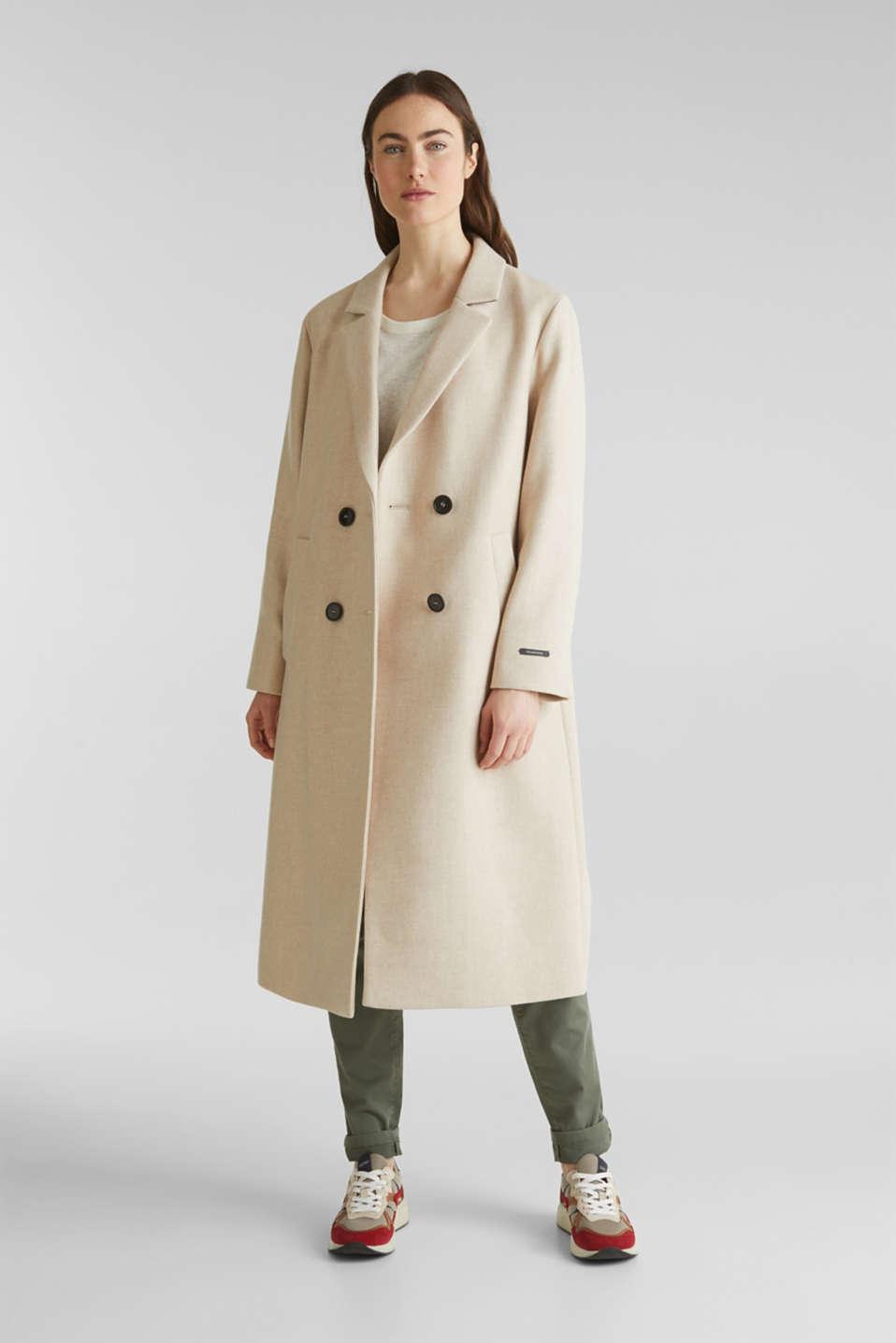 Esprit Woll Mix: Mantel aus italienischem Garn im Online