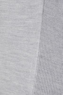 With responsible wool: long turtleneck jumper, LIGHT GREY 5, detail