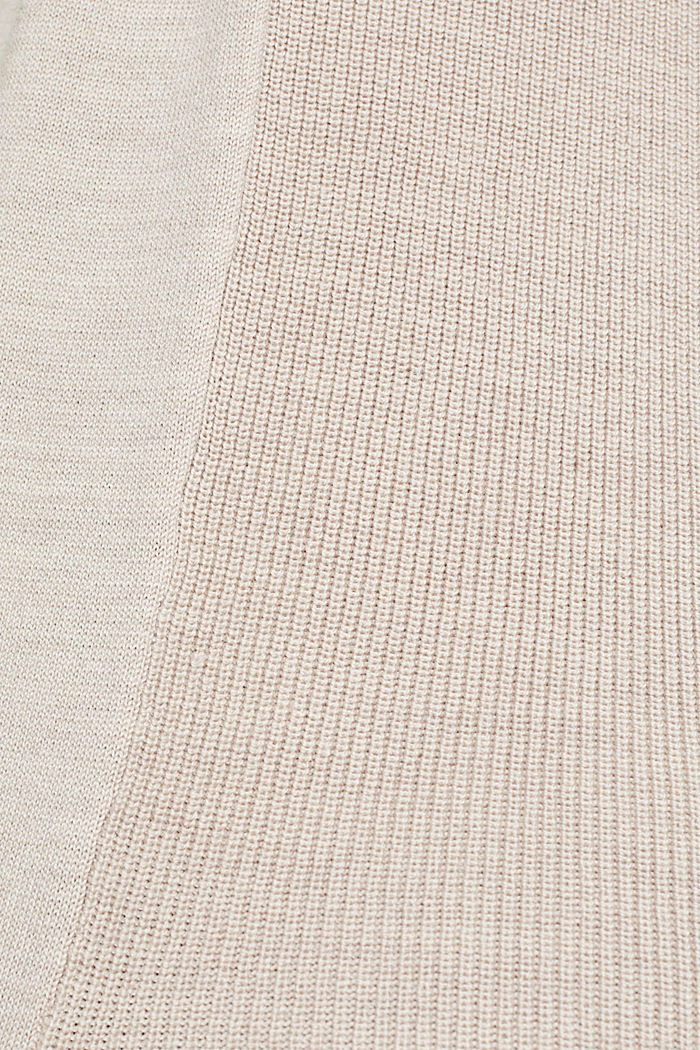 With responsible wool: long turtleneck jumper, NUDE, detail image number 4