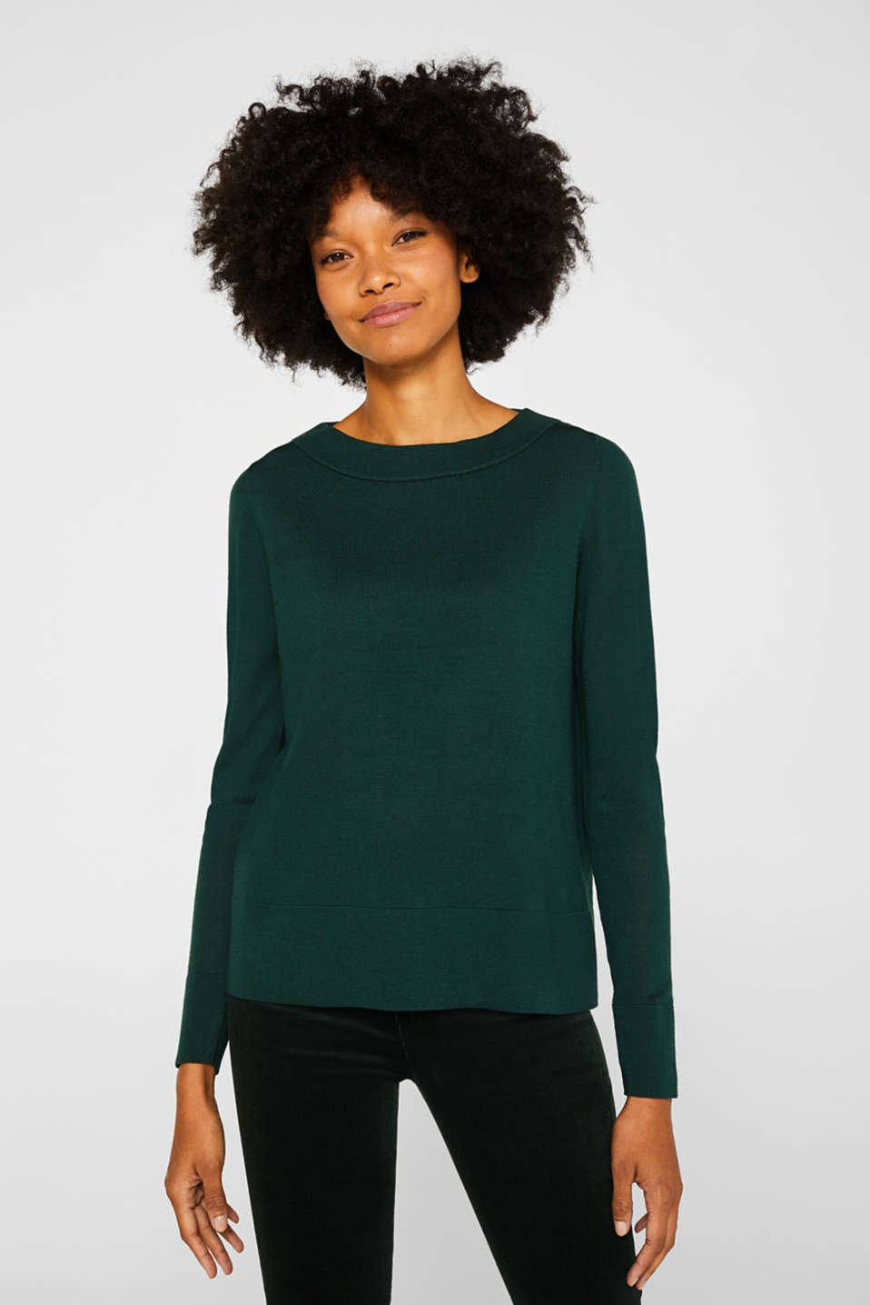 Esprit - Aus responsible Woll-Mix: cleaner Pullover