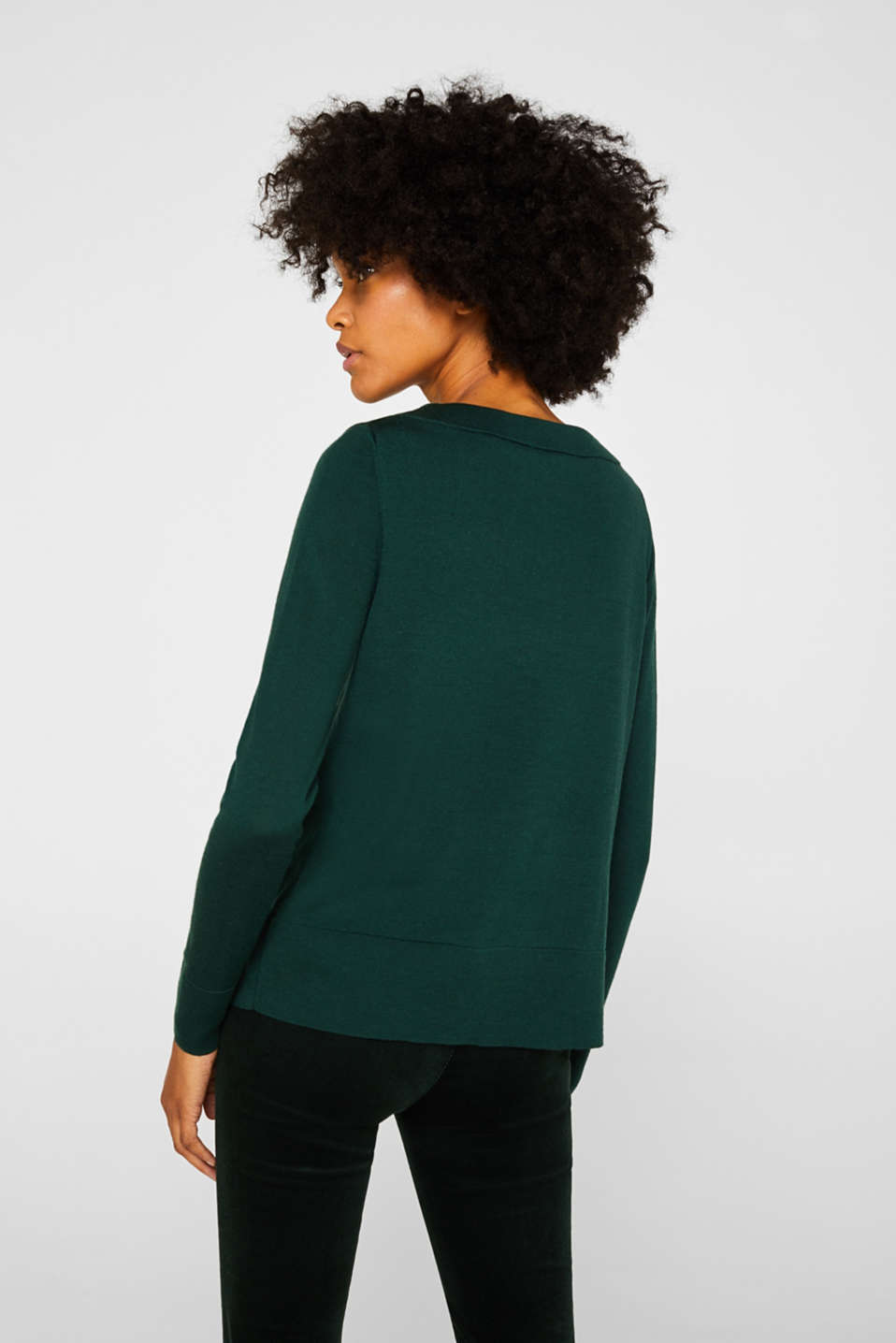 Sweaters, BOTTLE GREEN, detail image number 3