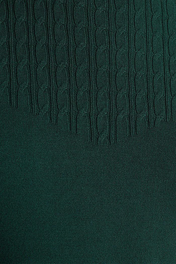 Trui met stretch en LENZING™ ECOVERO, BOTTLE GREEN, detail image number 4