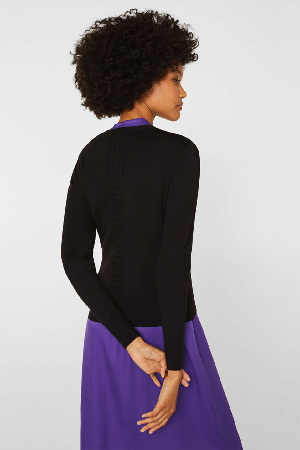 Sweaters cardigan, BLACK, detail image number 3