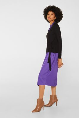 Stretch jumper with LENZING™ ECOVERO, BLACK, detail