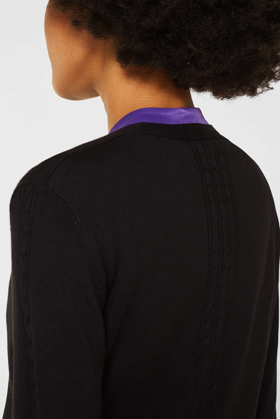 Sweaters cardigan, BLACK, detail image number 2