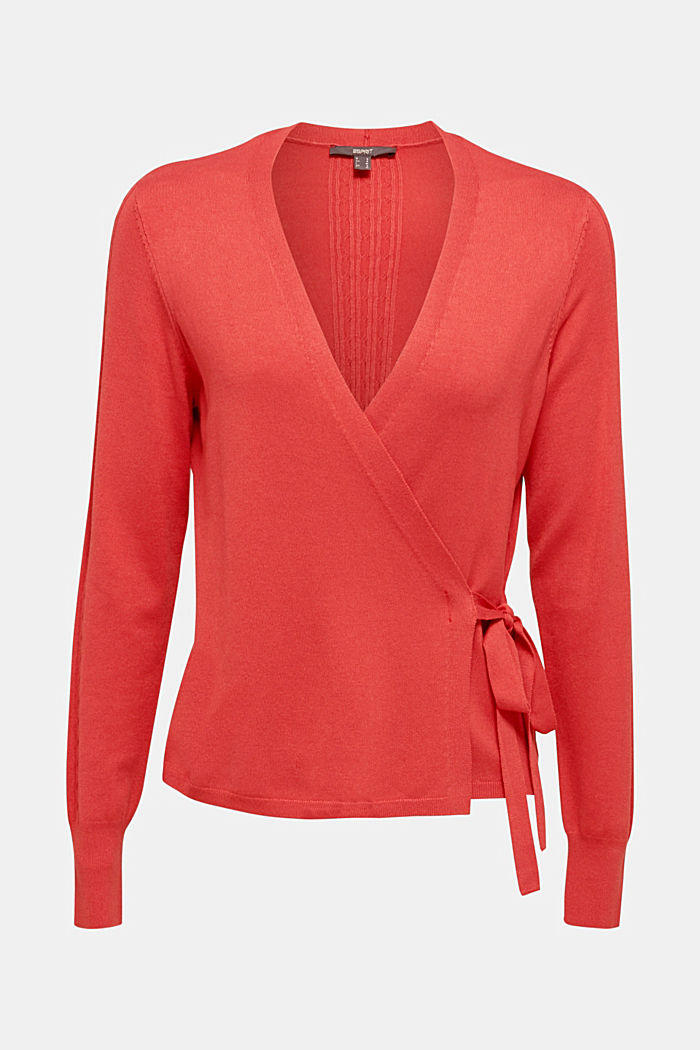 Stretch-Pullover mit LENZING™ ECOVERO, TERRACOTTA, overview