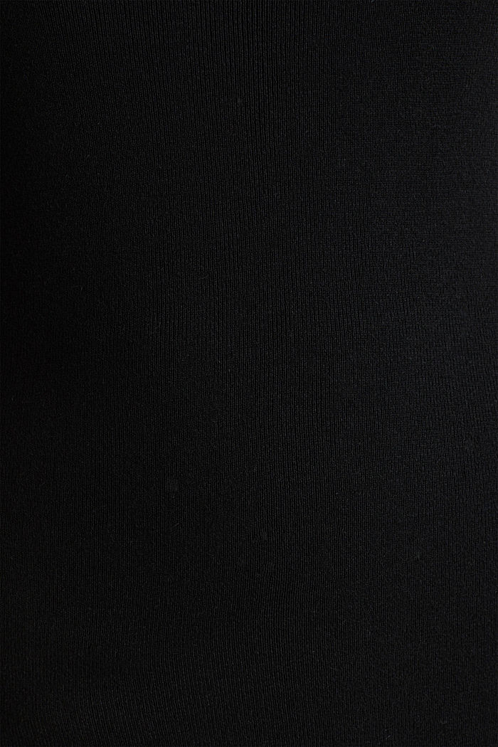 Cashmere blend jumper with a square neckline, BLACK, detail image number 4