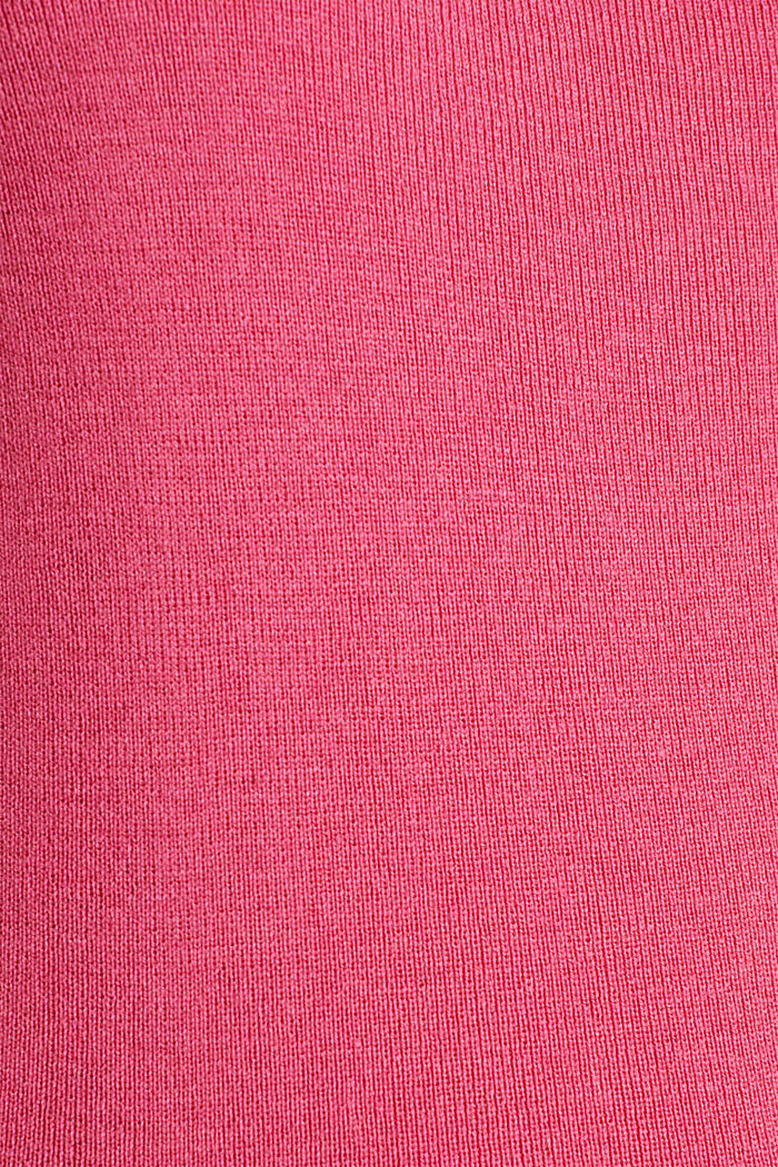 Cashmere blend jumper with a square neckline, PINK, detail image number 4