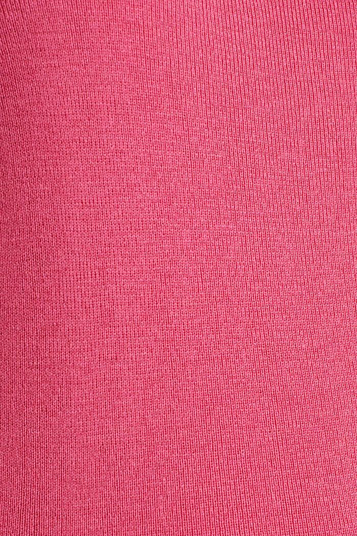 Karree-Pullover aus Kaschmir-Blend, PINK, detail image number 4