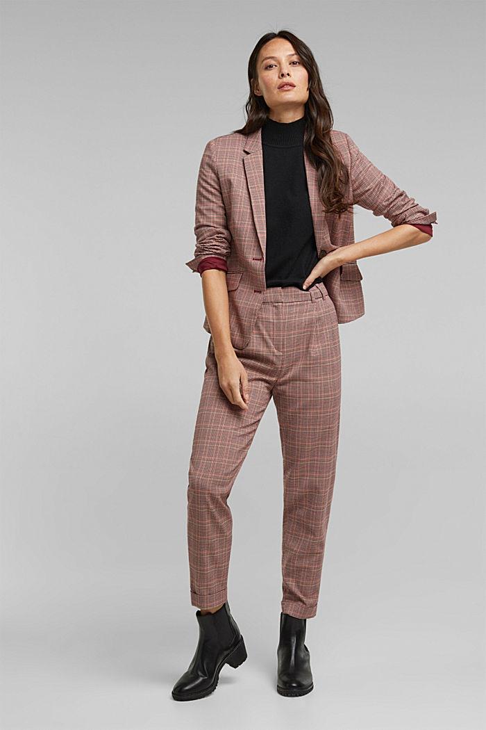 Short sleeve jumper with cashmere, BLACK, detail image number 1