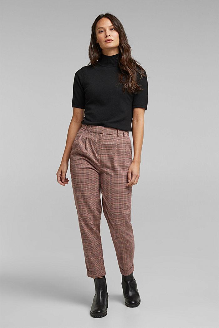 Short sleeve jumper with cashmere, BLACK, detail image number 5