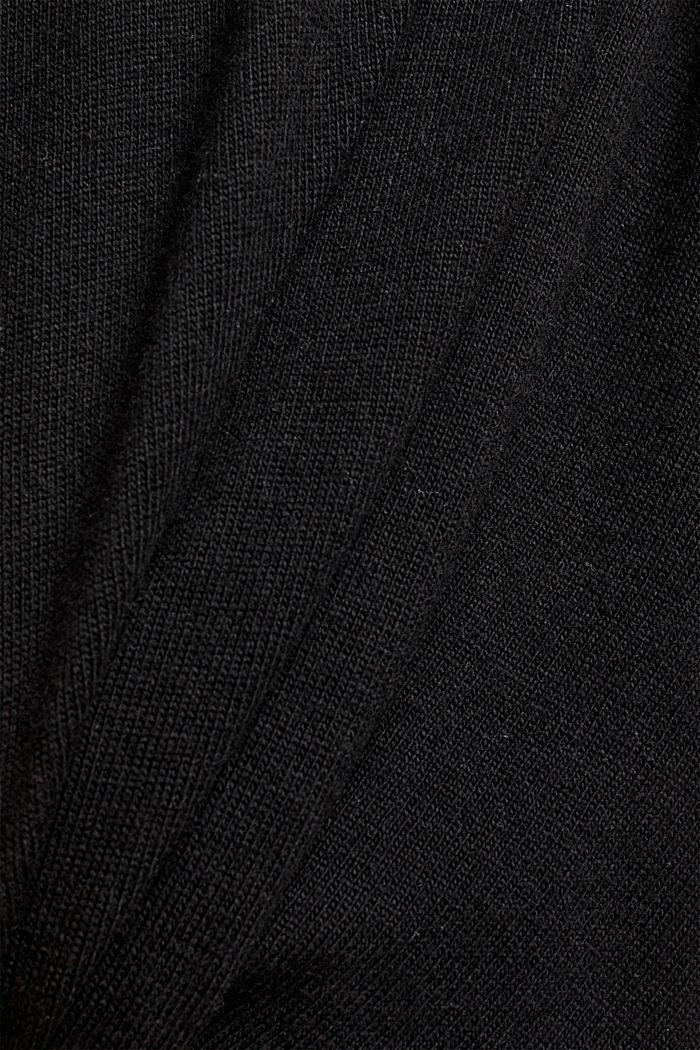 Short sleeve jumper with cashmere, BLACK, detail image number 4