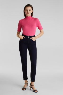 Short sleeve jumper with cashmere, PINK, detail