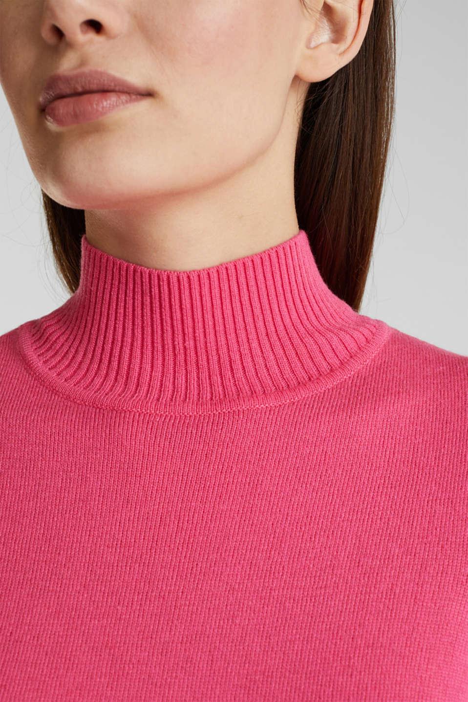 Short sleeve jumper with cashmere, PINK, detail image number 2