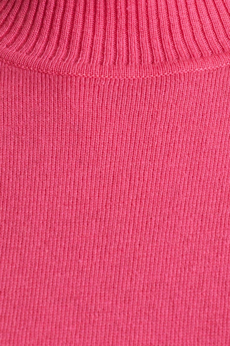 Short sleeve jumper with cashmere, PINK, detail image number 4