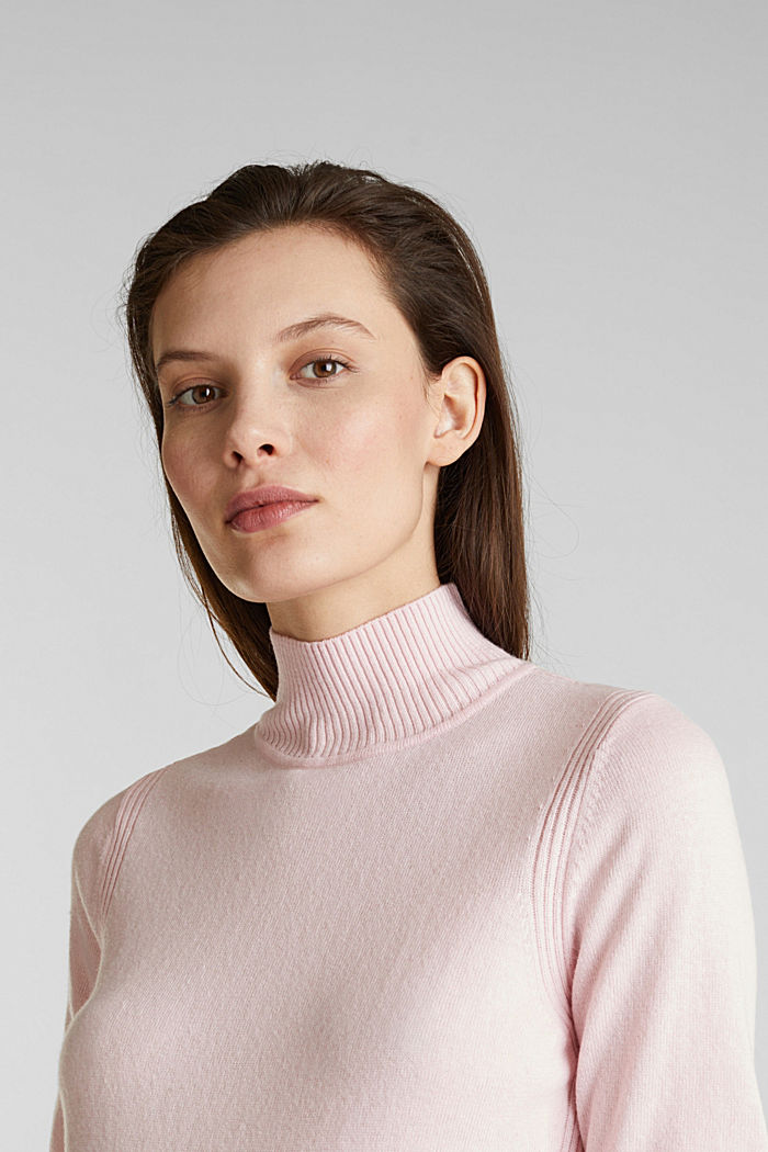 Short sleeve jumper with cashmere