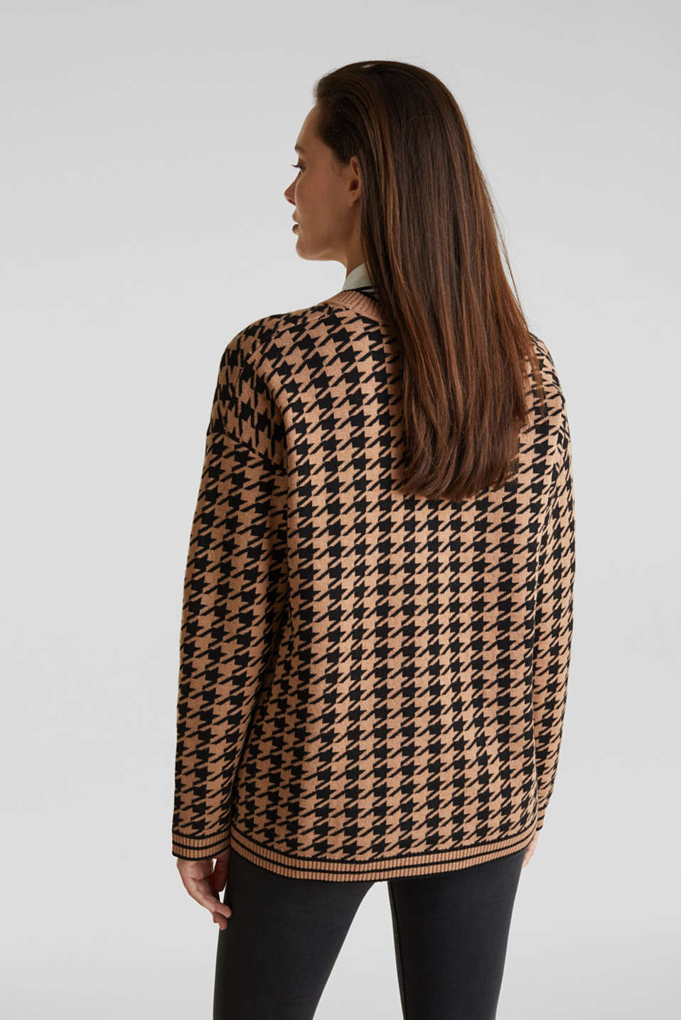 With cashmere: cardigan in an oversized look, CAMEL, detail image number 2