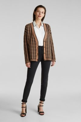 With cashmere: cardigan in an oversized look, CAMEL, detail