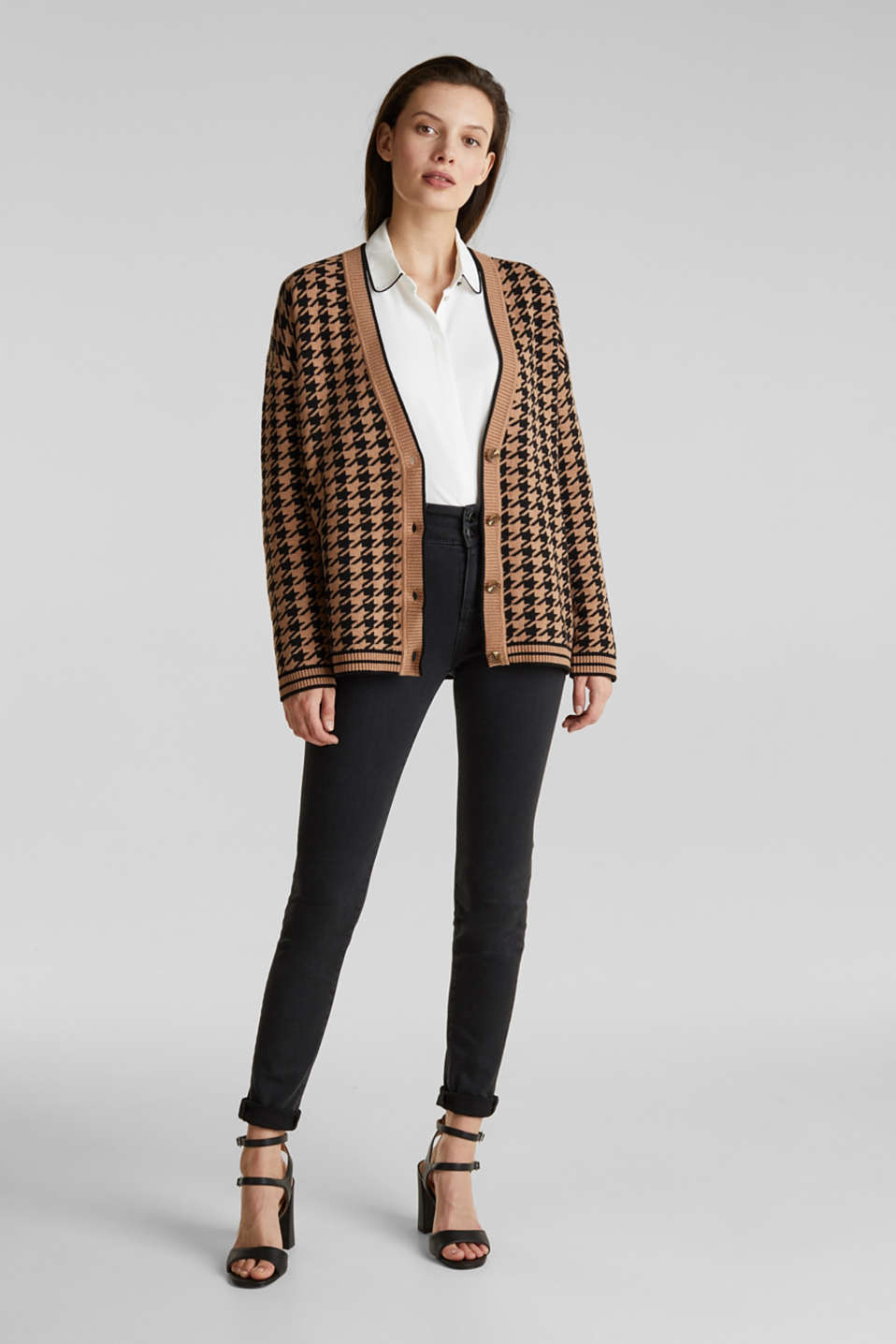 With cashmere: cardigan in an oversized look, CAMEL, detail image number 1
