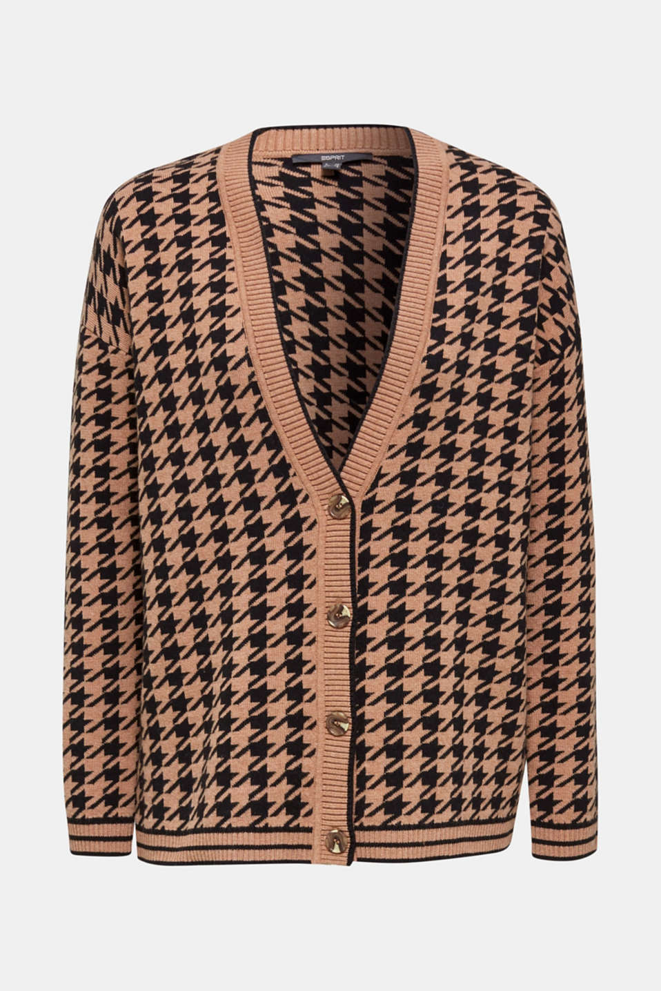 With cashmere: cardigan in an oversized look, CAMEL, detail image number 6