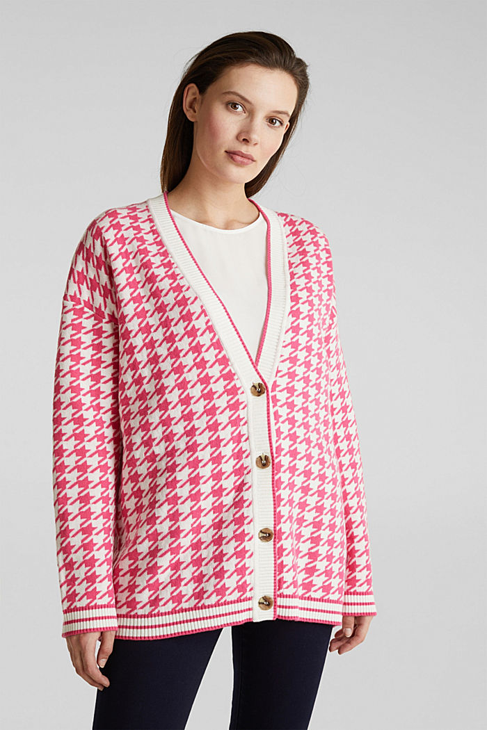 With cashmere: cardigan in an oversized look, PINK, detail image number 0