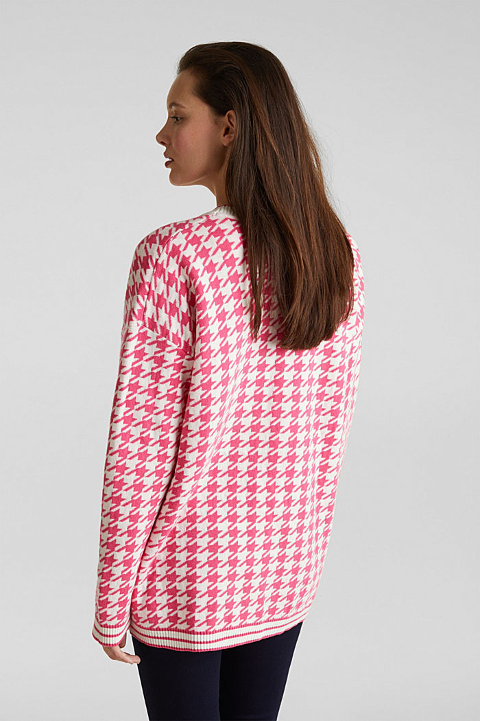 With cashmere: cardigan in an oversized look, PINK, detail image number 3