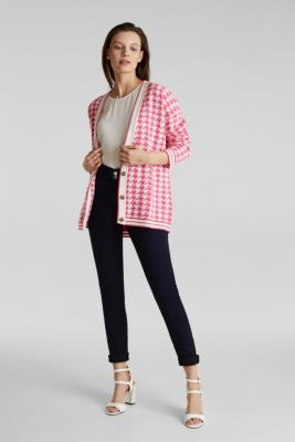 With cashmere: cardigan in an oversized look, PINK, detail