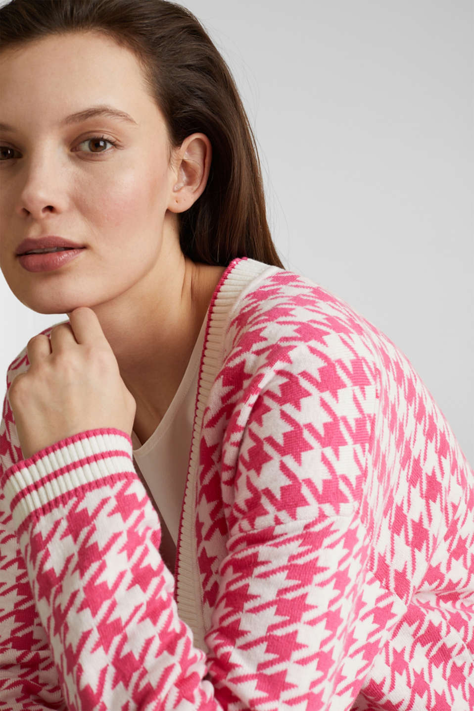 With cashmere: cardigan in an oversized look, PINK, detail image number 2