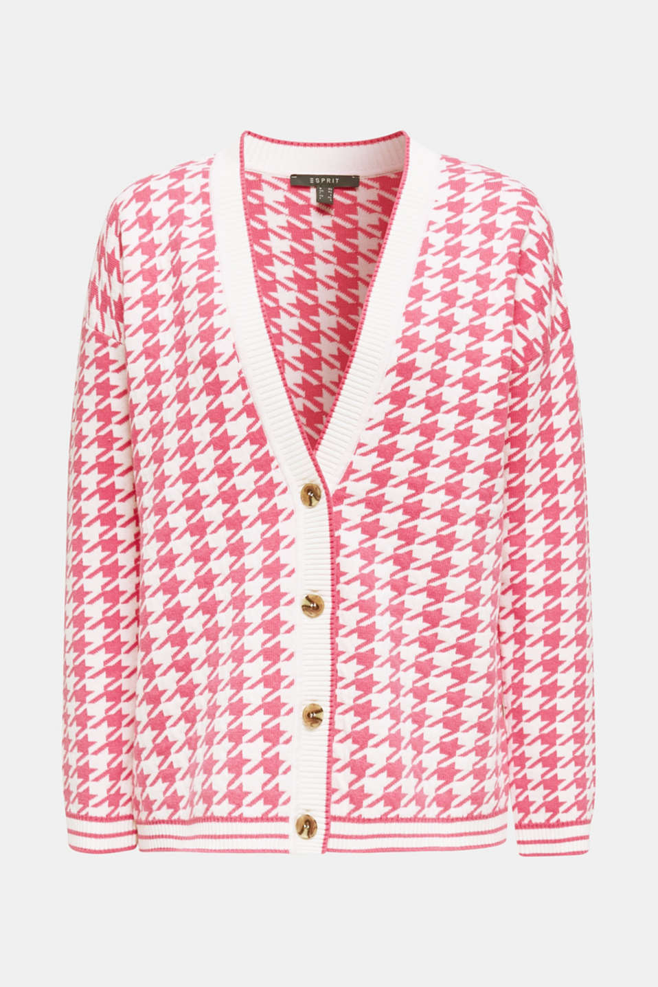 With cashmere: cardigan in an oversized look, PINK, detail image number 6