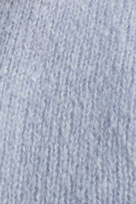 Alpaca blend: cardigan with batwing sleeves, LIGHT BLUE 5, detail