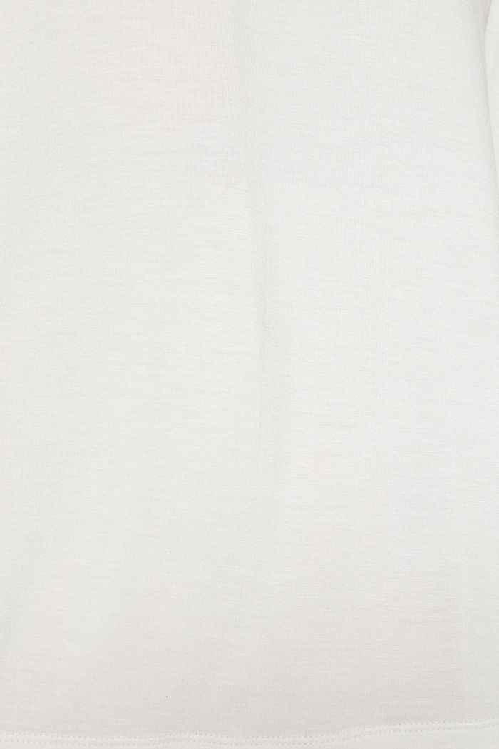 Stretch-Longsleeve mit Smok-Kragen, OFF WHITE, detail image number 4