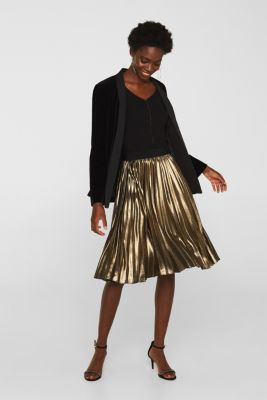 Stretch top with glittering piping, BLACK, detail