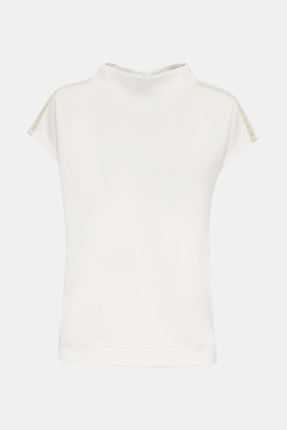 Stretch top with glittering tape, OFF WHITE, detail image number 7