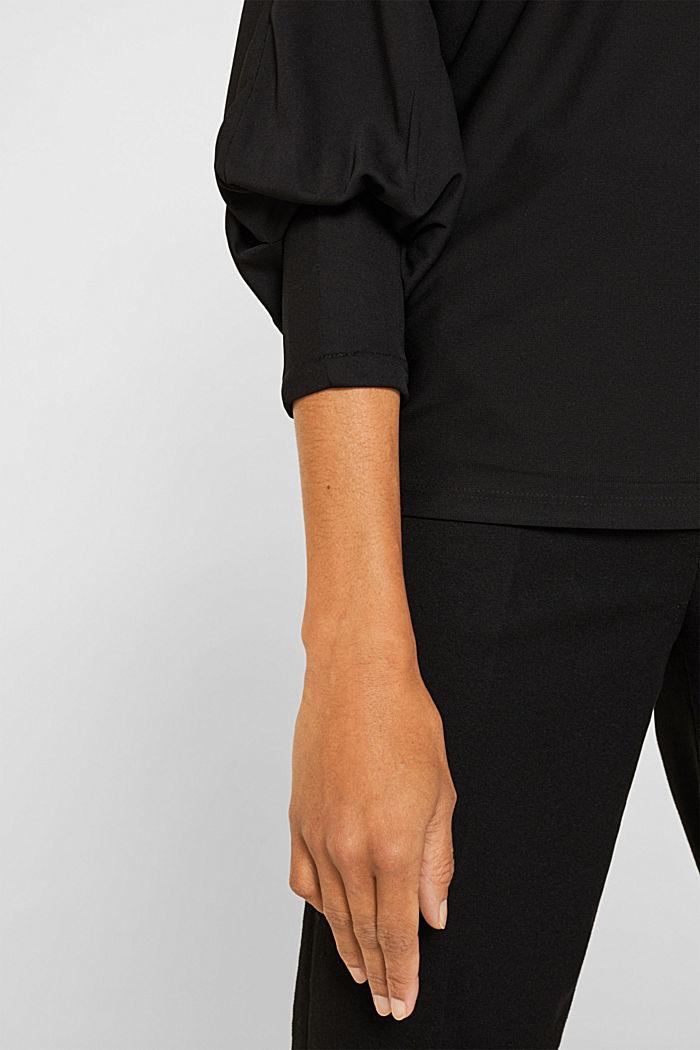 Long sleeve top with batwing sleeves, BLACK, detail image number 2