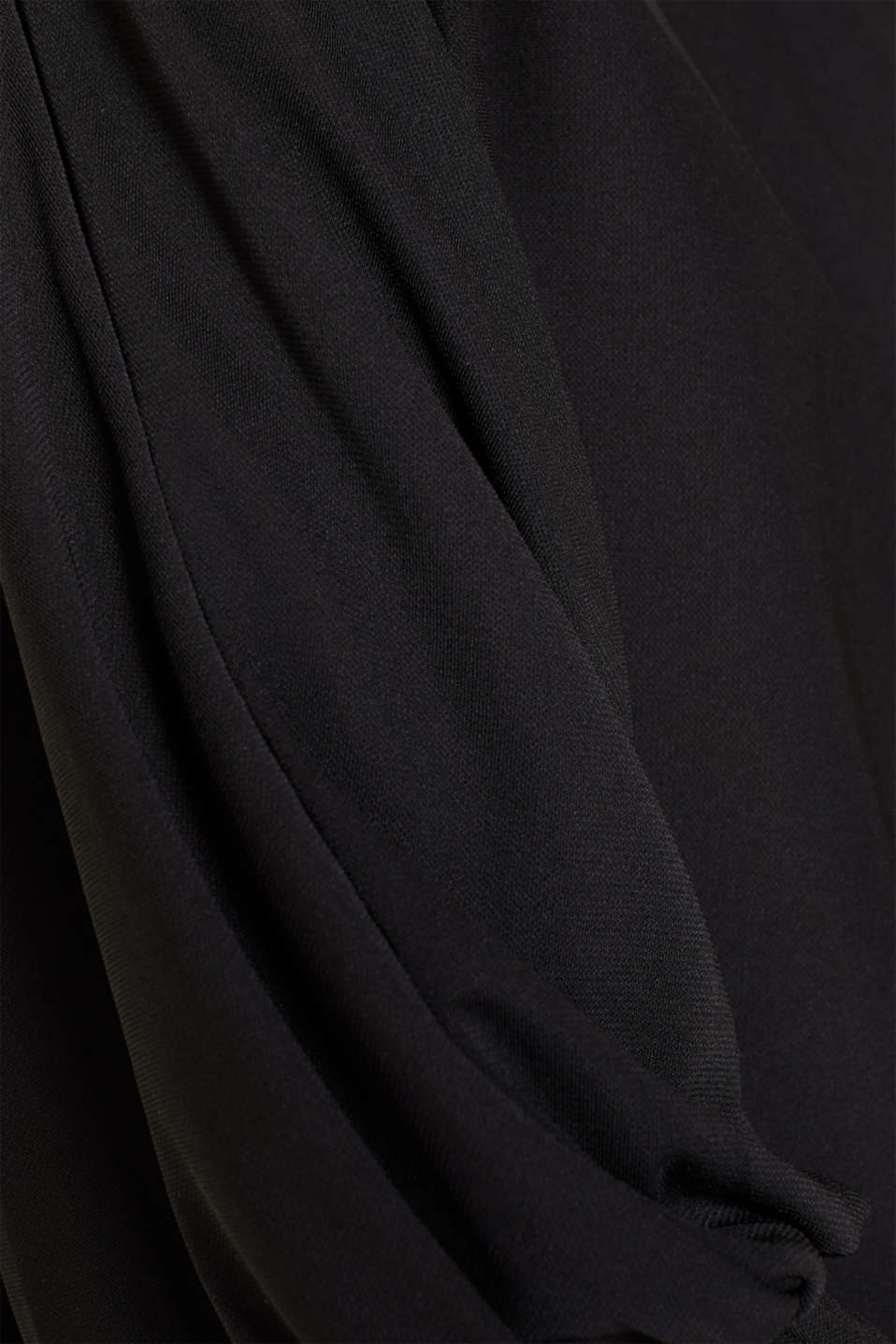 Long sleeve top with batwing sleeves, BLACK, detail image number 4