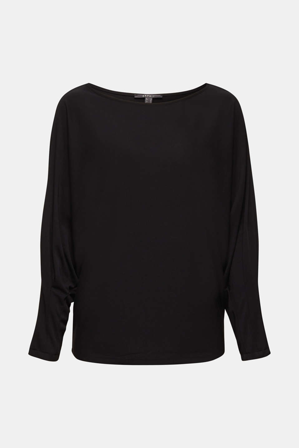 Long sleeve top with batwing sleeves, BLACK, detail image number 6
